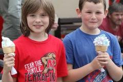 Hudai Mac Gairbheith and Josh Broadbent at Aonach Jack, Meenaleck on Saturday.