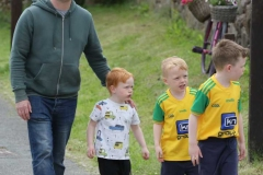 Oisin Mac Eo and family arriving in Meenaleck for Aonach Jack on Saturday.