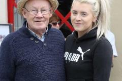 Donall de Barra and his grandaughter Sarah at Aonach Jack in Meenaleck.