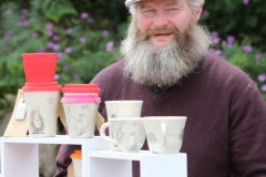 Jimmy Duffy at the Cupan Cre stand at Aonach Jack in Meenaleck.