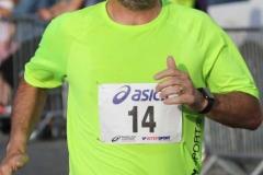 John Bonner crossing the finish line at the Burtonport 5k.