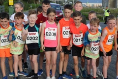 Junior runners ready for the off at the Burtonport 1k junior race.