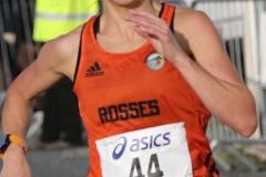 Helen Mc Cready heading for the finish line at the Burtonport 5k.