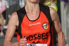 Sarah Mulholland heading for the finish at the Burtonport 5k.