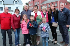 Members of the extended Mc Garvey family with Cllr Noreen Mc Garvey who officially opened the Burtonport festival on Saturday evening. (Photos by Eoin Mc Garvey)