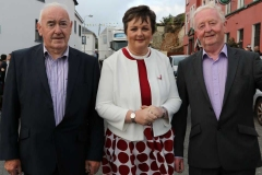 Mick Maloney, Cllr Noreen Mc Garvey and David Alcorn arriving for the opening of the 43rd Burtonport festival.