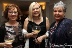 Jeanette Oman, Deirdre Scully and Marian Brown at gthe cancer charity dinner dance.