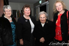 Maddie O'Donnell. Marie Gallagher, Margaret Lavin and Bernie Ferry Turk at the cancer charity dinner dance in Dungloe.