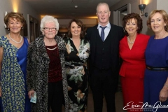 Margaret Gallagher, Eileen Mc Kelvey, Mary Boyle, Martin Boyle, Rosaleen Mc Shane and Liz Boyle at the Dungloe charity cancer dinner dance. (Pictures by Eoin Mc Garvey)