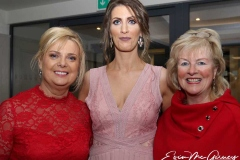 Bridget O'Donnell, Nicola Glackin and Marion Mc Hugh at the charity cancer dinner dance.