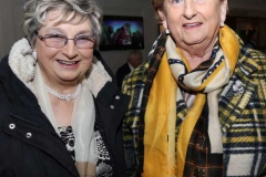 Maureen O'Sullivan and Bridget Langan at the charity dinner dance in Dungloe.