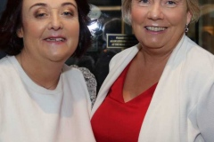 Hannah Gallagher and Frances Sharkey at the cancer charity dinner in Dungloe.