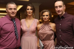 David Keller, Nicola Glackin, Emma Ham and Tom Ham at the charity cancer dinner in Dungloe.