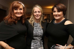 Fiona Elliot, Martina Rafferty and Phylis Sweeney at the charity dinner dance in the Waterfront Hotel.