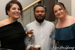Colleen Nichols, Atan Uzir and Valerie Haugh at the charity dinner dance in Dungloe.