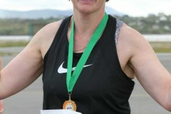 Kathleen Rodgers, first woman home at the Donegal Airport 5k.