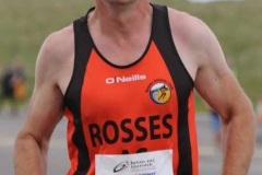 Denis Bonner crossing the line at the Donegal Airport 5k.