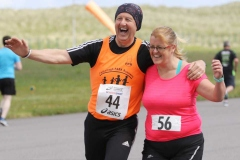 Eddie Mc Fadden and Grace Sharkey participating in the Donegal Airport 5k.