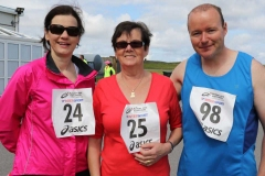 Ann Sweeney, Sheila Phost and Denis O'Donnell at the Donegal Airport 5k.