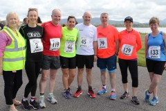 Participants in the Donegal Airport 5k with Pauline Sweeney from the airport staff. (Photos by Eoin Mc Garvey)