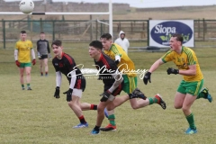 Action between Donegal and Tyrone U16 in Magheragallon on Saturday. (Pictures by Eoin Mc Garvey)