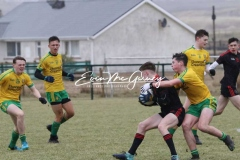 Donegal U16 in action against Tyrone in Magheragallon on Saturday.