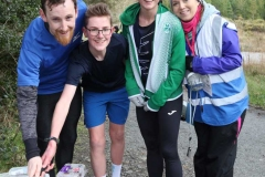 Owen Carlton, Kieran Glackin, Helen Mc Cready and Eilise O Harte cutting the 200th Parkrun cake in Dungloe on Saturday morning. (Pictures by Eoin Mc Garvey)