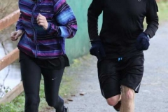 Helen Coll and Owen Coyle completing the 200th Dungloe Parkrun.