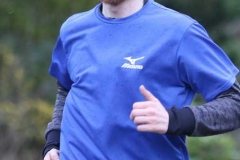 Owen Carlton, first to finish the 200th Parkrun in Dungloe on Saturday.