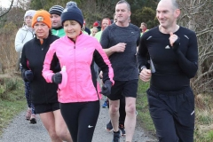 Runners at the 200th Parkrun in Dungloe on Saturday.