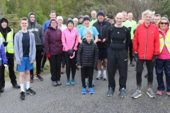 Some of the participants in and organisers of the 200th Parkrun in Dungloe on Saturday morning.