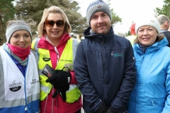 David Magee back for the 200th Parkrun in Dungloe on Saturday. David suffered a cardiac incident during his last visit some weeks back but was glad to be back today for the celebration. Included are Eilise O Harte, Sarah Mullis and Monica Mc Gee. (Pictures by Eoin Mc Garvey)