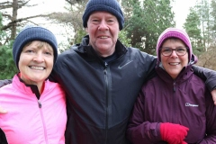 Sarah Moore, Fred Moore and Sarah Andrews from Marble Hill at the Dungloe 200th Parkrun.