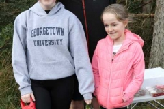 Hugh Mc Laughlin with daughters Holly and Eve and dog Casper at the 200th Parkrun in Dungloe.