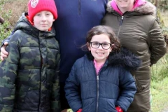 Paul, Michelle, Lucas and Ava Gallagher from Derry at the Dungloe 200th Parkrun on Saturday.