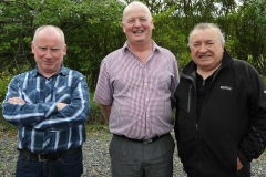 Sean Boyle, Eugene Greene and John Joe O'Donnell at the vintage car display at Feile Anagaire.