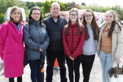 Grace Mc Devitt, Sandra Ferry, Eugene Ferry, Katie Ferry, Megan Ferry and Ellie Mc Devitt at Feile Anagaire.
