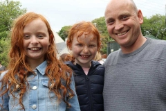The Boyds, Mark, Lucie and Darcie at Feile Anagaire.