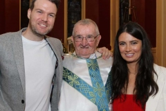 Fr Herrity with Dave Madden and his niece Joanne Mc Clafferty.