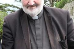 Fr Francie Mc Ateer arriving for Fr Herrity's golden jubilee celebration. Both priests were ordained on the same day.