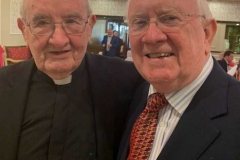 Leas Ceann Comhairle Pat the Cope Gallagher TD with Fr Herrity at his golden jubilee celebrations.