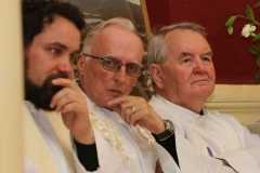 Fathers Brian O Fearraigh, Owen O'Donnell and Sean O Gallachoir at Fr Michael Herrity's golden jubilee celebrations at the weekend. (Photos by Eoin Mc Garvey)