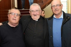 Jimmy O'Donnell and Sean Mc Glynn from Dungloe with Fr Michael Herrity at the golden jubilee of his ordination celebrations.