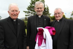 Retired Bishop Philip Boyce and Bishop Alan Mc Guckian with Fr Michael Herrity CC, Knockfola at the celebration of the golden jubilee of his ordination.
