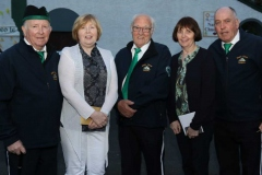 Annagry parishioners Barney Duffey, Anne Ferry, Vincie O'Donnell, Una Sweeney and Neil Mc Bride at Fr Herrity's golden jubilee celebration.