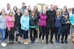 Group of walkers ready fro the off at the Maghery festival on Saturday. (Photos by Eoin Mc Garvey)