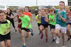 Juvenile runners in the Maghery 1k and 5k.