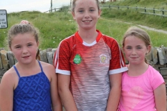 Alannah O'Donnell, Toni Boyle and Ruby Mc Gee, first three juvenile girls in the Maghery festival 5k.