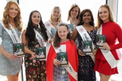 Pictured on Tuesday night at the launch of the Mary from Dungloe Marys itinerary brochure were, from left, Nicola Ni Bhaoill, Wild Atlantic Way Mary, Joanne Ni Cheallaigh, Gaeltacht Mary, Hannah O'Donnell, Donegal Mary, Caroline O'Donnell, 2018 winner, Anila Devasia, India Mary, Breena Boyle, Dungloe Mary and Ellie Bonner, 2018 Little Miss Mary. (Photo by Eoin Mc Garvey)
