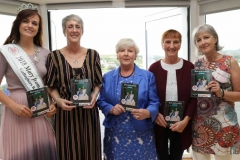 Caroline O'Donnell, 2018 Mary from Dungloe, Anthea Atkinson, Chairperson, Mary Ward, Brid Mc Cole and Deirdre Ni Bhraonain at the launch on Tuesday night of the Marys itinerary brochure. (Photos by Eoin Mc Garvey)